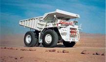 建設車両用大型タイヤの写真