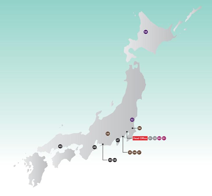 日本の主な事業拠点