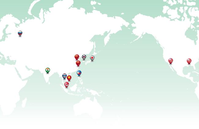 世界で拡大するYOKOHAMA 2012年度の主なグローバル施策